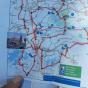 de kaart van de pontjesroute die wij gebruikten
