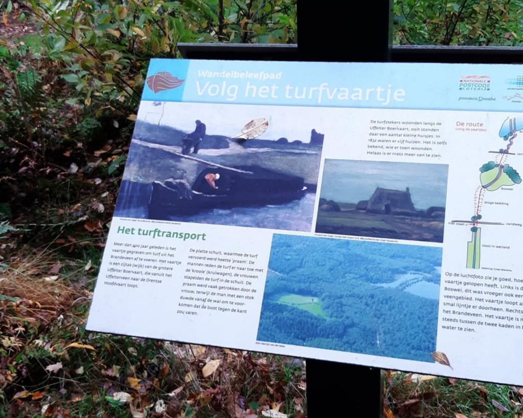Volg het turfvaartje, een wandel beleefpad in Drenthe