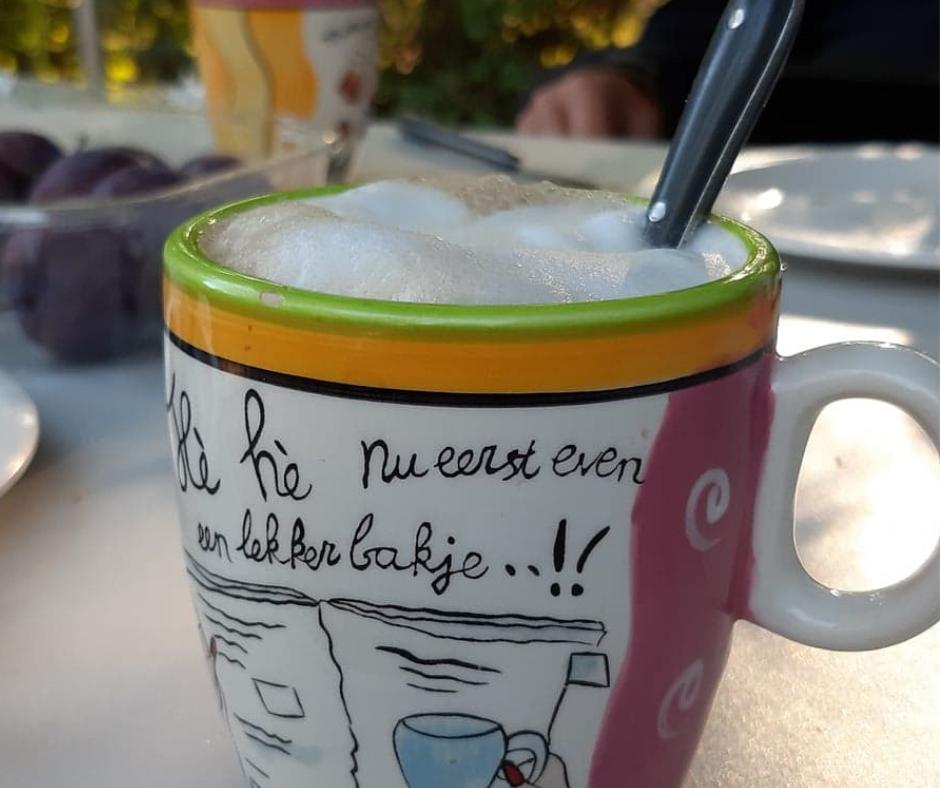 cappuccino op de camping